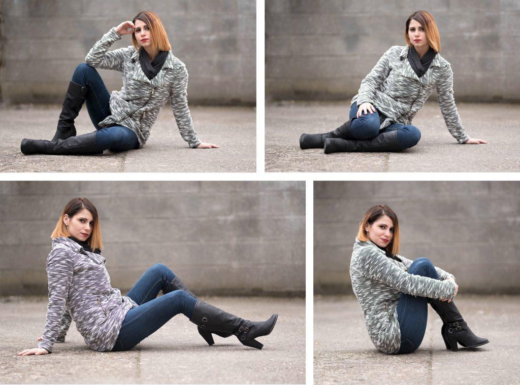 20 idées de poses à réaliser avec une modèle photo femme en position assise