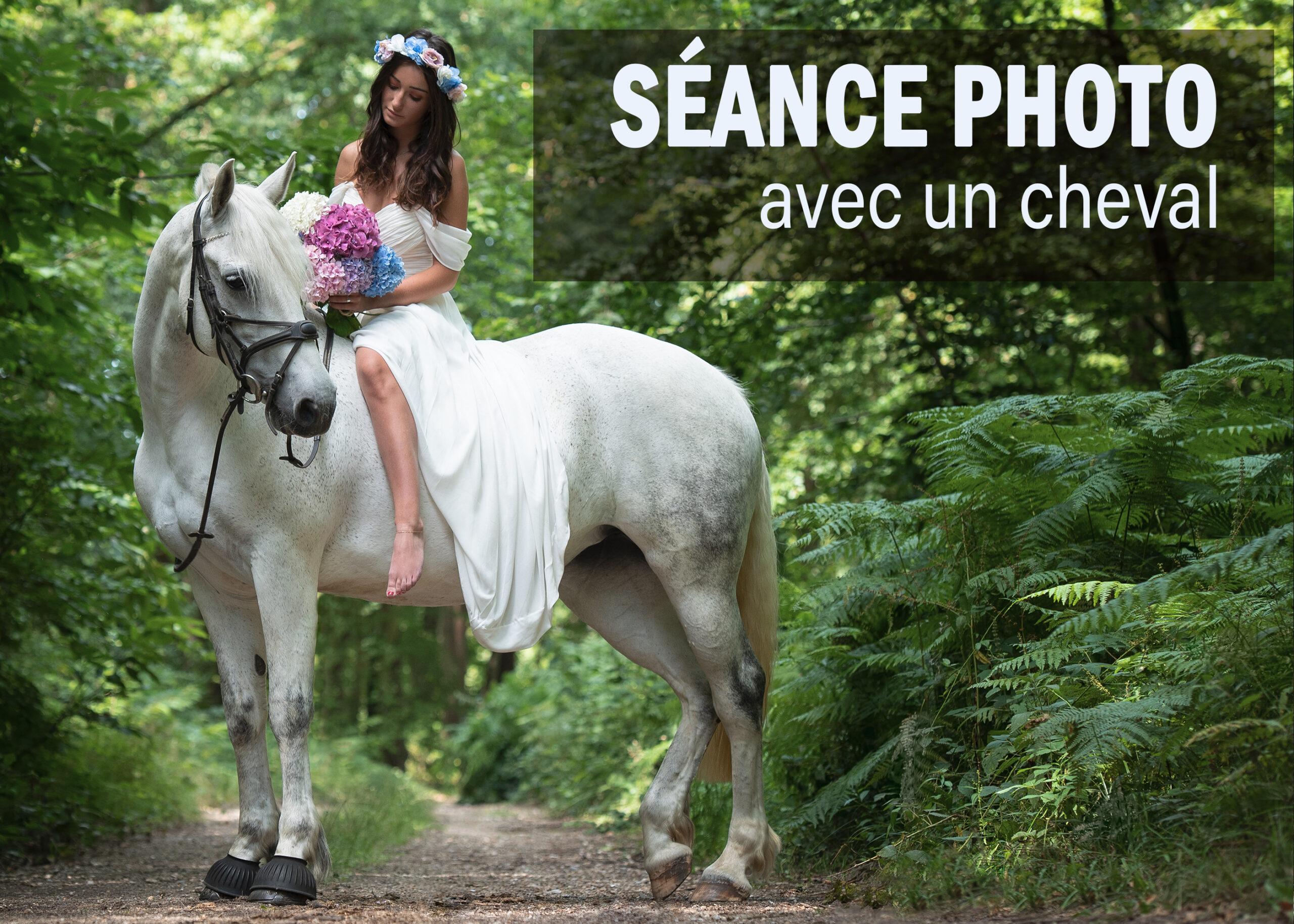 SÉANCE PHOTO AVEC UN CHEVAL !