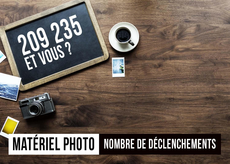 POURQUOI ET COMMENT CONNAITRE LE NOMBRE DE DÉCLENCHEMENTS D'UN APPAREIL PHOTO ?