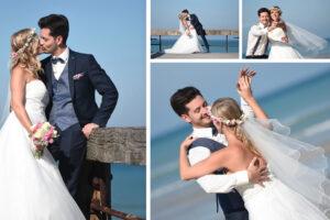 10 IDÉES DE POSES PHOTOS DE MARIAGE A LA MER !