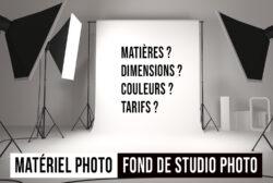 QUEL FOND CHOISIR POUR UN STUDIO PHOTO ?